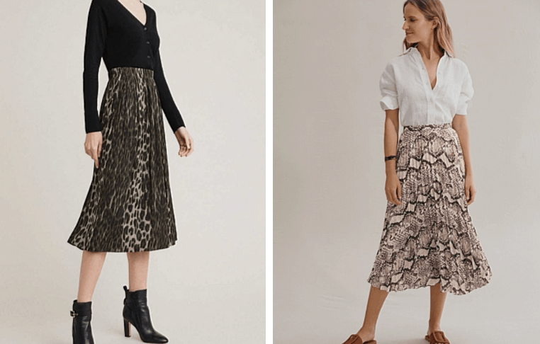 animal print skirts affordable winter style for mums