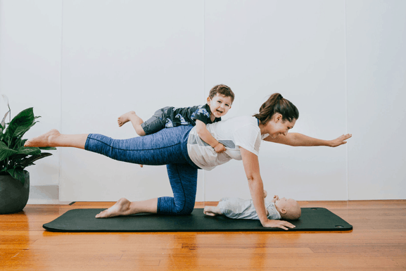 postpartum pilates for mums at home