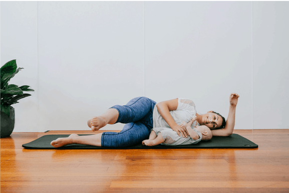 postpartum pilates moves for busy mums